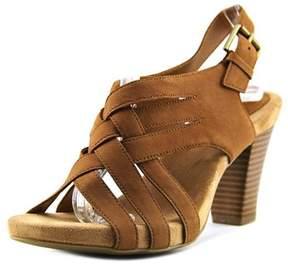 Giani Bernini Justyne Women Open Toe Leather Sandals.