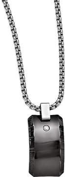 Black Diamond FINE JEWELRY Edward Mirell Black Ti Mens 1/10 CT. T.W. Stainless Steel Titanium Pendant Necklace