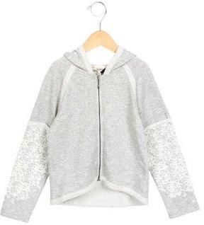 Junior Gaultier Girls' Louann Lace Print Sweatshirt w/ Tags