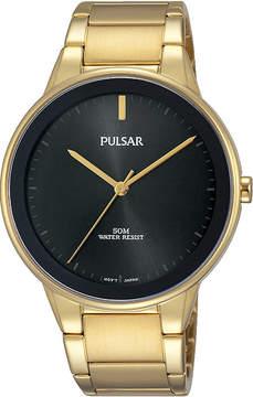 Pulsar Mens Gold Tone Bracelet Watch-Pg2046