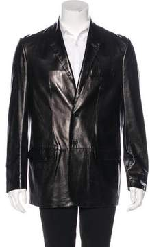 Helmut Lang Vintage Leather Two-Button Blazer
