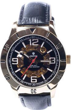 Croton N/A Mens Silver Tone Bracelet Watch-Ca301298sssl