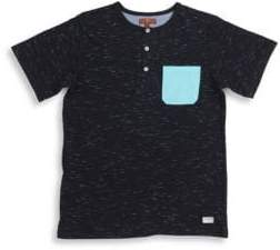 7 For All Mankind Boy's Pocket Henley Tee