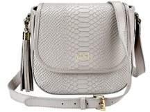 GiGi New York Personalized Embossed Python Leather Crossbody Bag