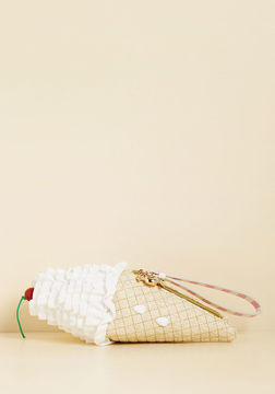 Betsey Johnson Soft Serves You Right Clutch