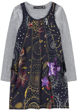 Desigual 2 In 1 Dress With Shine-In-The-Dark Print
