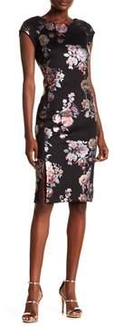 ECI Floral Print Scuba Dress