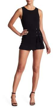 BCBGeneration Lace-Up Sleeveless Romper