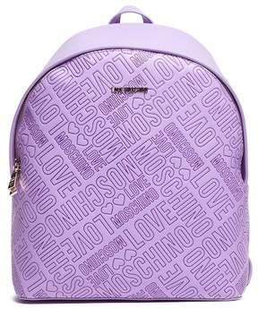 Love Moschino Borsa Embossed Lavanda Backpack