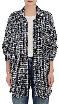 Faith Connexion Women's Tweed Oversized Blouse
