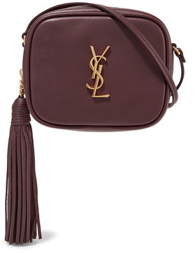 Saint Laurent Monogramme Blogger Leather Shoulder Bag - Merlot - MERLOT - STYLE