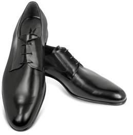 Moreschi Men's Black Leather Lace-up Shoes.