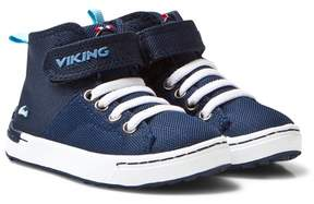 Viking Navy/White Frogner Kids MID Trainers