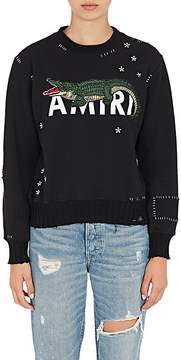 Amiri Women's Alligator-Embroidered Cotton Sweatshirt