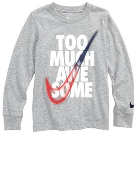 Nike Boy's Too Much Awesome Graphic T-Shirt