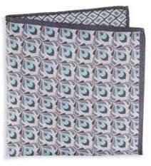 Saks Fifth Avenue Geometric Silk Pocket Square