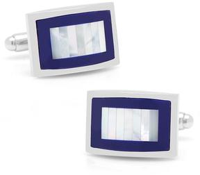 Ice Lapis & Mother of Pearl Key Cufflinks