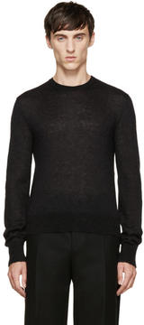 Calvin Klein Collection Black Mohair Sweater