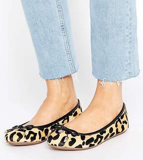 Dune London Dune Wide Fit Wide Fit Leopard Print Ballet Flat Shoes