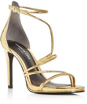 Kenneth Cole Bryanna Metallic Embossed Strappy High Heel Sandals