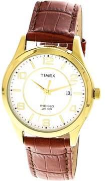 Timex Men's Indiglo T2P449 Gold Leather Quartz Fashion Watch