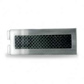 Zales Stainless Steel Money Clip with Carbon Fiber Inlay