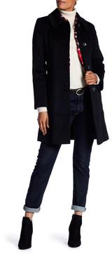 Fleurette Shaped Cashmere & Wool Blend Coat