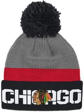 Reebok Adult Chicago Blackhawks Cuffed Pom Knit Hat