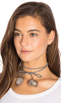 8 Other Reasons Rabbit Fur Pom Pom Wrap Necklace