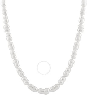 Bella Pearl White Twin Freshwater Pearl Necklace