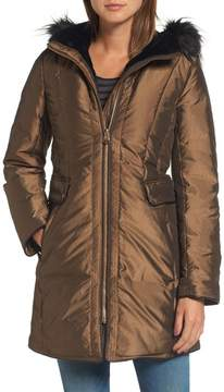 Cole Haan Women's Faux Fur Trim Down Parka