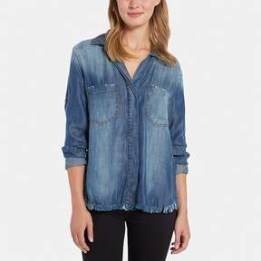 Bella Dahl Split Back Button-Down Shirt
