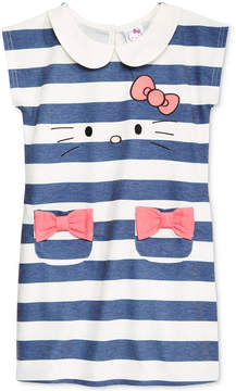 Hello Kitty Toddler Girls Striped Embroidered Dress