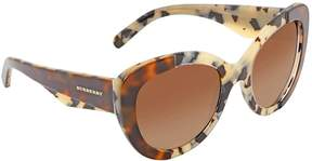 Burberry Brown Gradient Butterfly Ladies Sunglasses