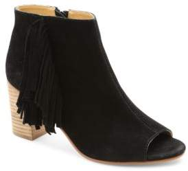 Kensie Erika Suede Open Toe Ankle Boots