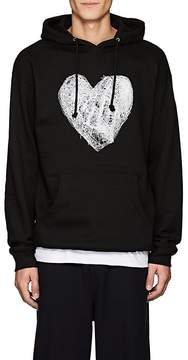 Public School Men's thedrop@barneys: Heart-Print Fleece Hoodie