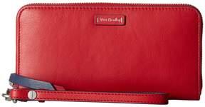 Vera Bradley Gallatin RFID Accordion Wristlet Wristlet Handbags - BITTERSWEET CHOCOLATE - STYLE
