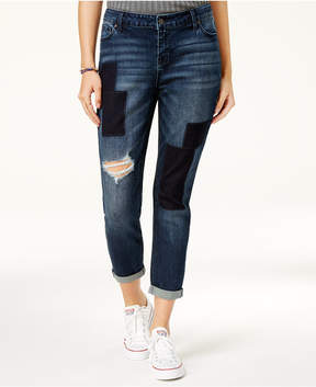 Celebrity Pink Juniors' Ripped Patched Jeans