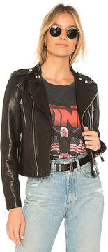 Anine Bing Collarless Moto Jacket