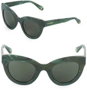Zac Posen Women's Jacqueline 49MM Logo Butterfly Sunglasses