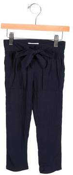Chloé Girls' Tie-Accented Straight-Leg Pants w/ Tags