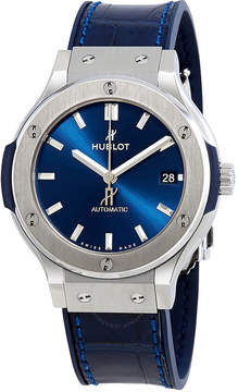 Hublot Classic Fusion Blue Sunray Dial Titanium 38mm Automatic Men's Watch
