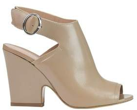 Twin-Set Women's Beige Leather Sandals.