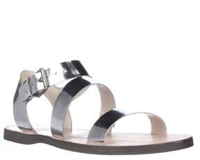 Dolce Vita Veya Flat Strapped Sandals, Silver Specchio.