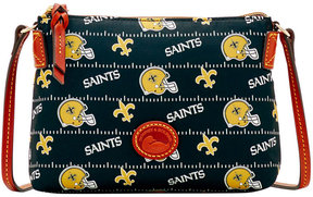 Dooney & Bourke New Orleans Saints Nylon Crossbody Pouchette - BLACK - STYLE