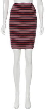 Band Of Outsiders Striped Bandage Skirt