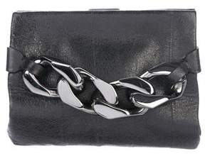 Givenchy Chain Embellished Leather Clutch