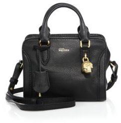 Alexander McQueen Padlock Mini Leather Zip Satchel
