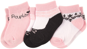 Luvable Friends Paris Three-Pair Socks Set