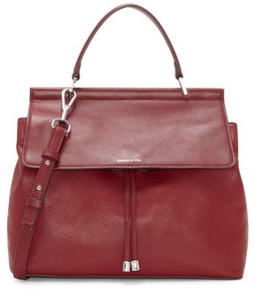 Louise et Cie 'Towa' Leather Top Handle Satchel - Red